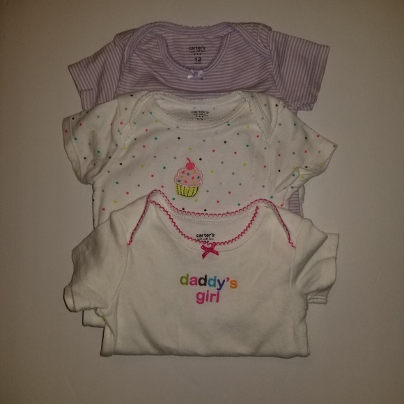 18b0374c Carter's Shirts & Tops   Carters 3 Pc Girls Infant 12 Month Snap ...